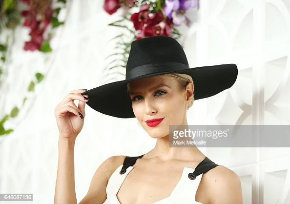 Erin Holland poses at the Australian Turf Club 2017 Sydney Carnival Launch at Royal Randwick Racecourse on February 28 2017 in Sydney Australia