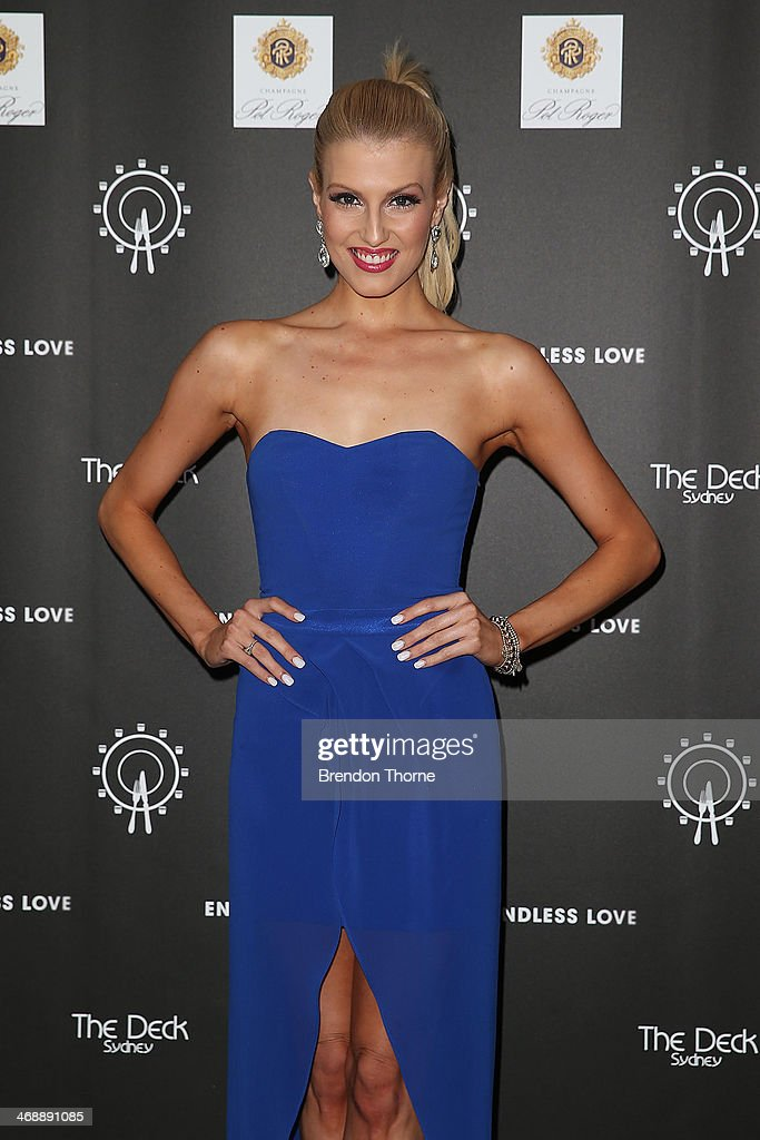 Erin Holland poses during Luna Park's 2014 Valentine's event at Luna Park on February 12, 2014 in Sydney, Australia.