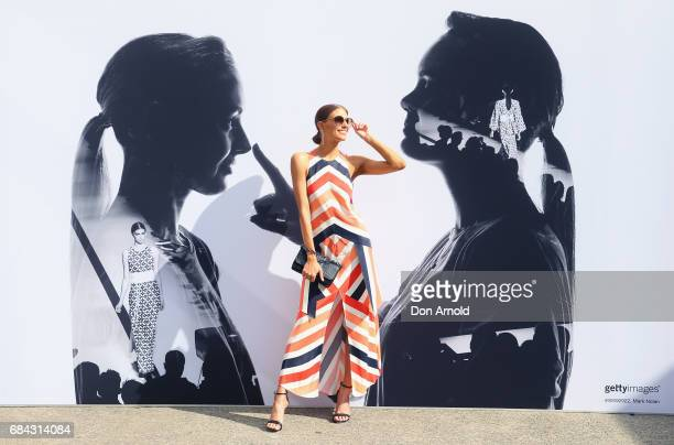 Erin Holland wears Sass and Bide outfit Prada sunglasses Siren shoes and Mimco clutch during MercedesBenz Fashion Week Resort 18 Collections at...