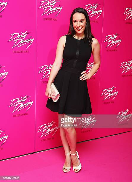 Erin James arrives for the 10th anniversary tour of Dirty Dancing at Sydney Lyric Theatre on December 3 2014 in Sydney Australia