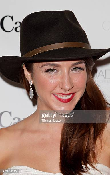 Erin Karpluk attends the Canada Day in LA party at on July 1 2015 in Santa Monica California