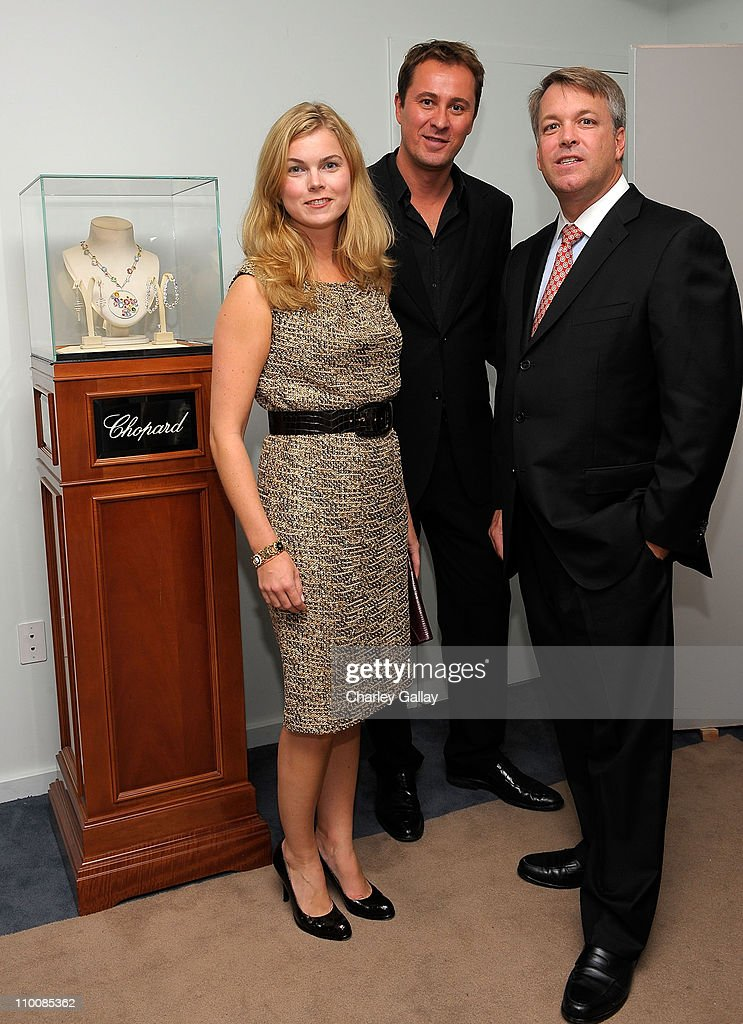 Erin Kelly of St. John, Chopard's Scott Green, and Director of Chopard Wes Carroll attend Los Angeles Confidential Magazine's Luxury Showcase at the Luxe Hotel on September 12, 2008 in Beverly Hills, California.