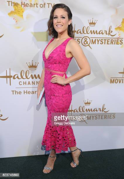 Erin Krakow arrives at the 2017 Summer TCA Tour Hallmark Channel And Hallmark Movies And Mysteries at a private residence on July 27 2017 in Beverly...