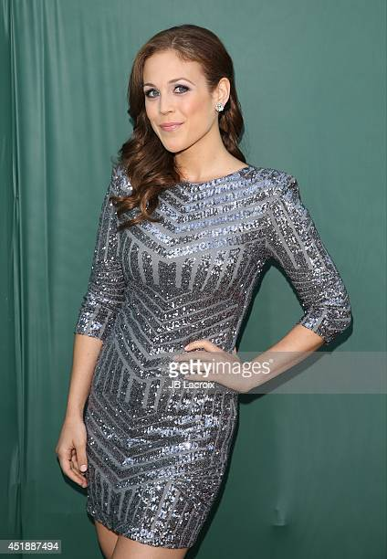 Erin Krakow attends the Television Critics Association Summer Press Tour Hallmark Channel Hallmark Movie Channel Celebration held at the Northpole...