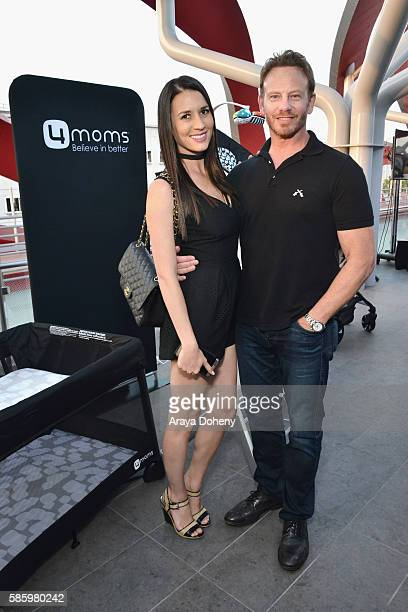Erin Kristine Ludwig and actor Ian Ziering attend the 4moms Car Seat launch event at Petersen Automotive Museum on August 4 2016 in Los Angeles...