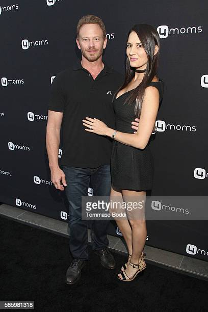 Erin Kristine Ludwig and actor Ian Ziering attends the 4moms Car Seat launch event at Petersen Automotive Museum on August 4 2016 in Los Angeles...