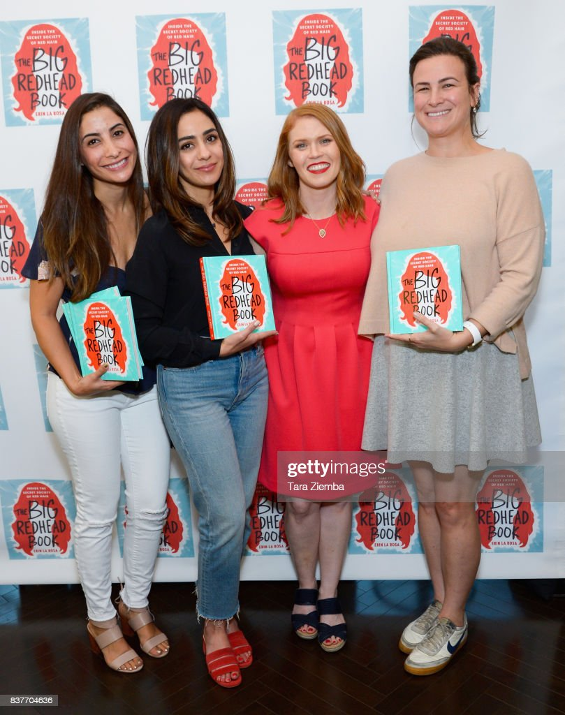 Erin La Rosa (c) and guests attend the book launch celebration for Erin La Rosa's 'The Big Redhead Book' at Blushington on August 22, 2017 in West Hollywood, California.