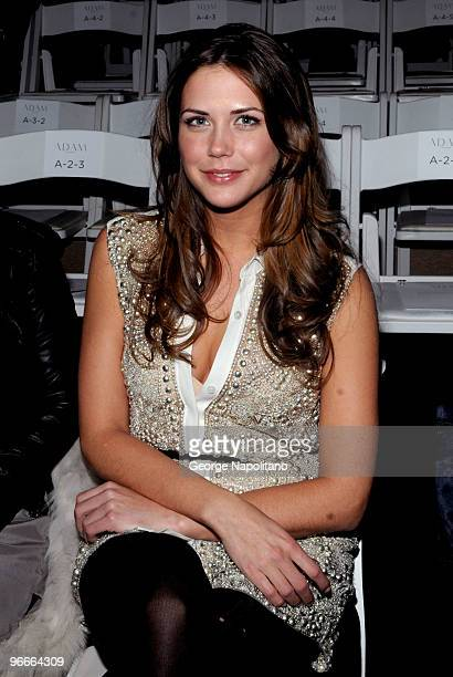 Erin Lucas attends the Adam Fall/Winter 2010 fashion show during MercedesBenz Fashion Week at Bryant Park on February 13 2010 in New York City