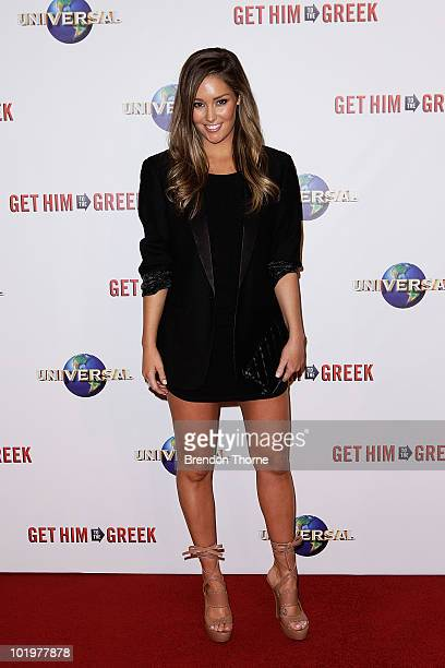 Erin McNaught arrives at the premiere of 'Get Him To The Greek' at Event Cinemas George Street on June 11 2010 in Sydney Australia