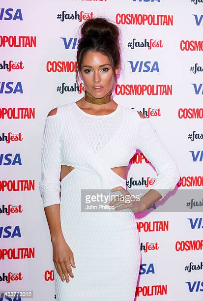 Erin McNaught attends the Catwalk to Cosmopolitan fashion show as part of the Cosmopolitan FashFest at Battersea Evolution on September 17 2015 in...