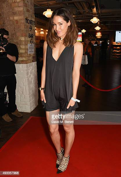 Erin McNaught attends the UK Premiere of 'Between Two Worlds' at Picturehouse Central on October 19 2015 in London England