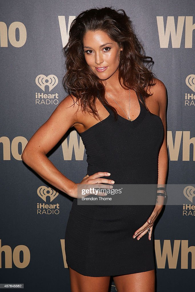 Erin McNaught poses at WHO's sexiest people party 2014 at Fox Studios on October 22, 2014 in Sydney, Australia.