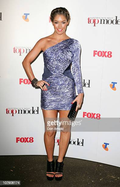Erin McNaught poses on the red carpet during the launch of Australia's Next Top Model Series 6 at the Inglis Newmarket Stables on July 15 2010 in...