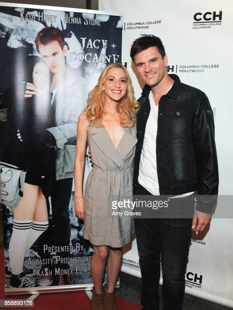 Erin Michele Soto and Kash Hovey attend the 'Jack And Cocaine' Screening At The Valley Film Festival at Columbia College Hollywood on October 7 2017...
