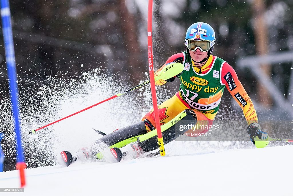 <a gi-track='captionPersonalityLinkClicked' href=/galleries/search?phrase=Erin+Mielzynski&family=editorial&specificpeople=6544771 ng-click='$event.stopPropagation()'>Erin Mielzynski</a> of Canada competes during the first leg of the women's FIS World Cup race in Maribor, Slovenia on February 22, 2015.
