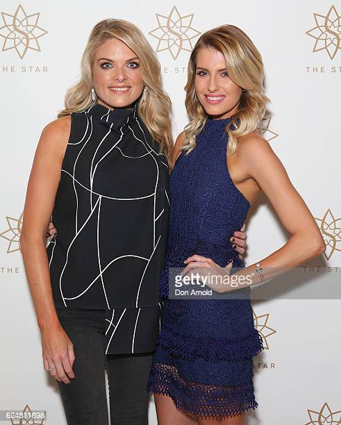 Erin Molan and Erin Holland arrive at the Star Celebrity Poker Tournament at The Star on November 21 2016 in Sydney Australia