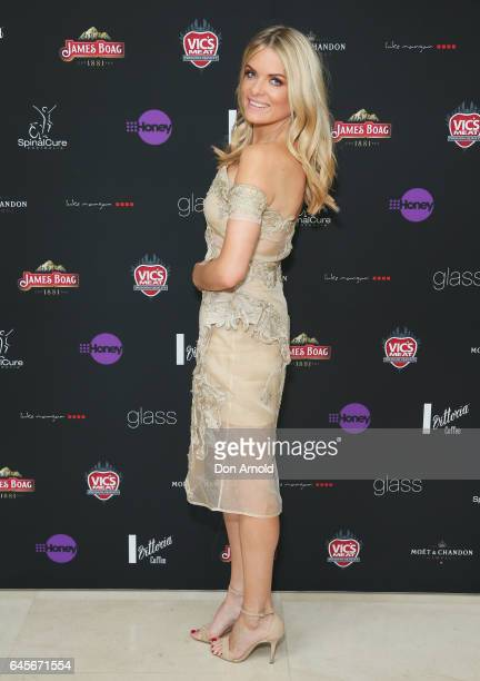 Erin Molan arrives ahead of the 89th Academy Awards Industry Lunch at glass brasserie on February 27 2017 in Sydney Australia