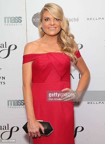 Erin Molan arrives ahead of the LOYAL Foundation 'Last Charge' Gala Dinner at Four Seasons Hotel on December 5 2015 in Sydney Australia