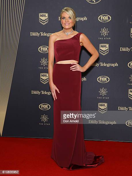 Erin Molan arrives at the 2016 Dally M Awards at Star City on September 28 2016 in Sydney Australia