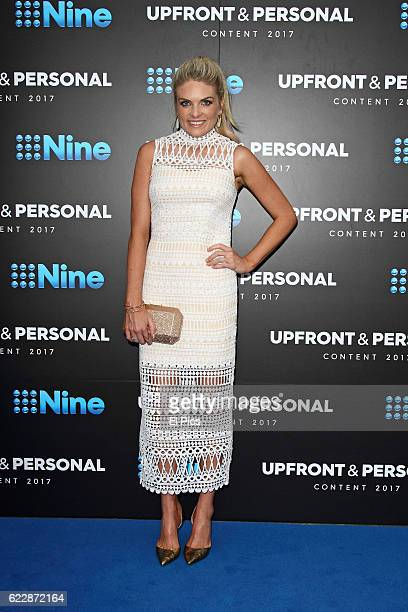 Erin Molan poses during the Channel Nine Up fronts at The Star on November 8 2016 in Sydney Australia