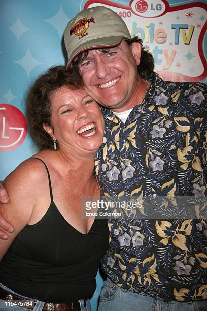 Erin Moran and husband Steven Fleischmann during LG Mobile TV Party at Stage 14 Paramount Studios in Hollywood CA United States