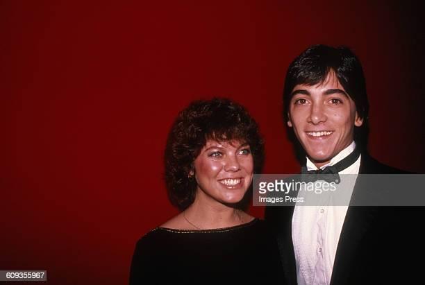 Erin Moran and Scott Baio circa 1982 in New York City