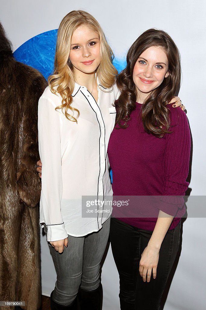 Erin Moriarty and <a gi-track='captionPersonalityLinkClicked' href=/galleries/search?phrase=Alison+Brie&family=editorial&specificpeople=5447578 ng-click='$event.stopPropagation()'>Alison Brie</a> attend Day 2 of the Variety Studio at 2013 Sundance Film Festival on January 20, 2013 in Park City, Utah.