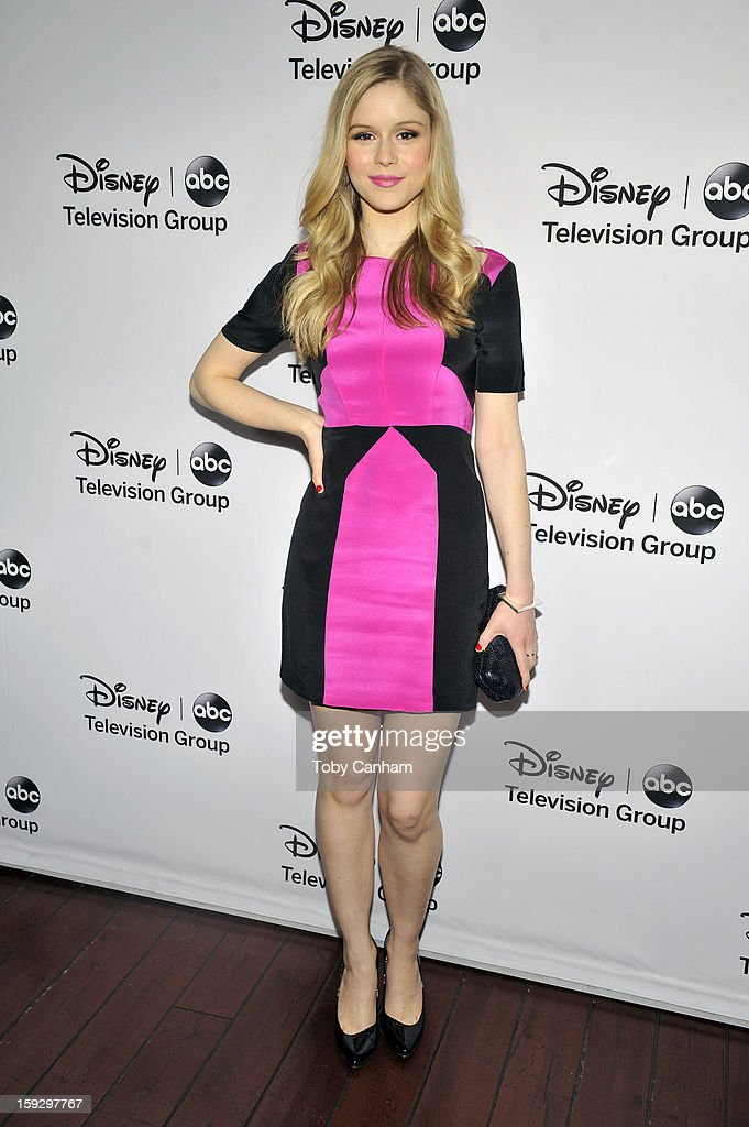 Erin Moriarty arrives for the Disney ABC Television groups '2013 Winter TCA Tour' event at The Langham Huntington Hotel and Spa on January 10, 2013 in Pasadena, California.