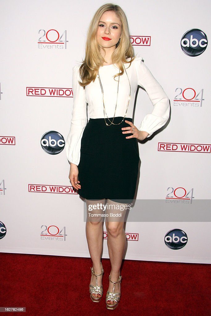 Erin Moriarty attends the ABC's new series 'Red Widow' held at Romanov Restaurant Lounge on February 26, 2013 in Studio City, California.