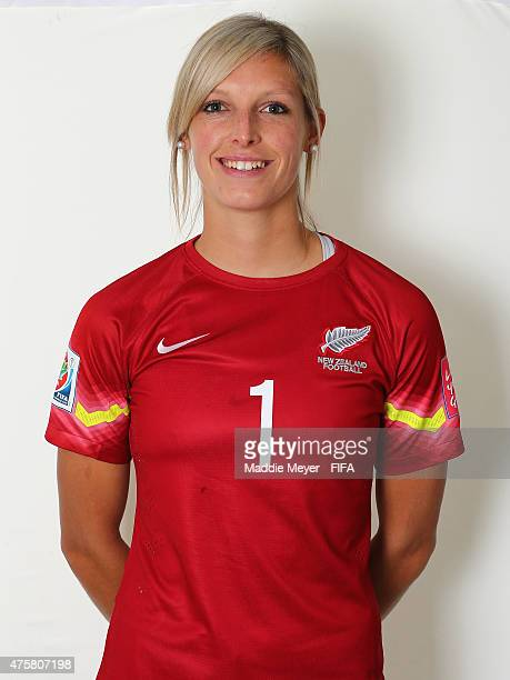 Erin Nayler of New Zealand during the FIFA Women's World Cup 2015 portrait session at the Delta Edmonton South on June 3 2015 in Edmonton Canada