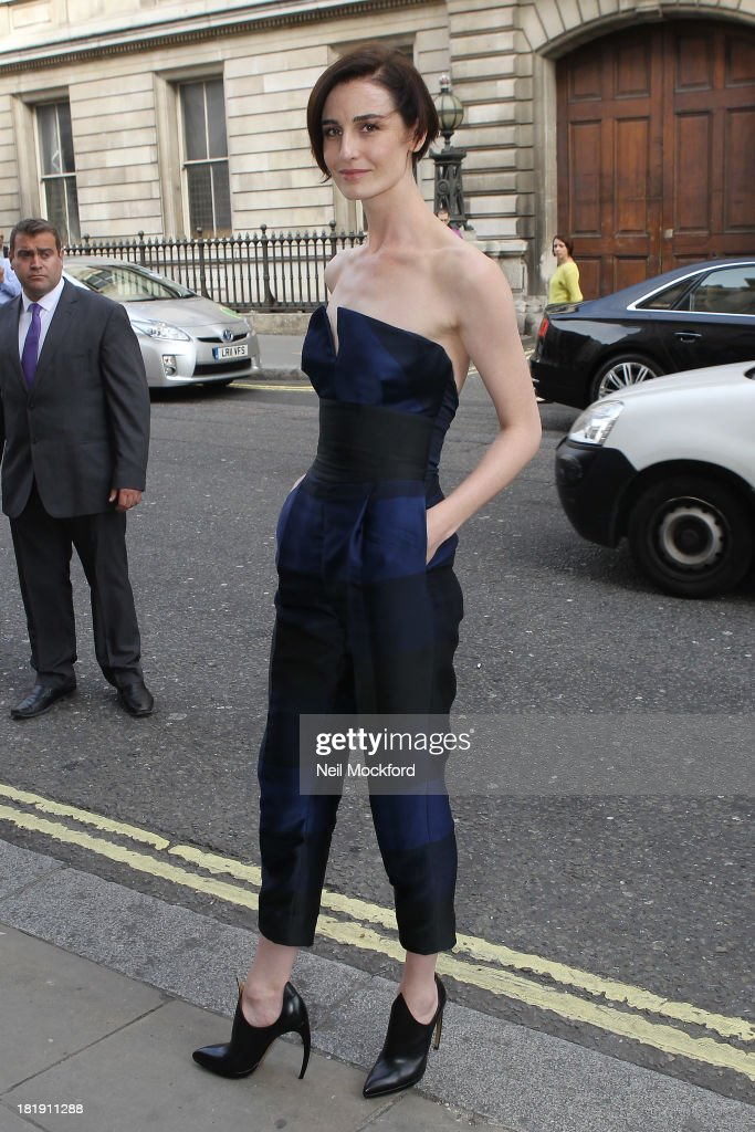 Erin O'Conner arriving at a screening of 'The Face' at the Royal Opera House on September 26, 2013 in London, England.