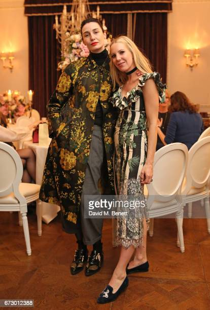 Erin O'Connor and Alice NaylorLeyland attend a VIP dinner celebrating Mrs Alice for French Sole at The Connaught Hotel on April 25 2017 in London...