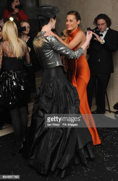 Erin O'Connor and Yasmin Le Bon arrives for the 2008 British Fashion Awards at the Royal Horticultural Hall 80 Vincent Square London