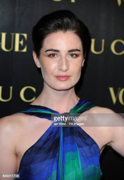 Erin O'Connor arrives at a dinner in honour of Frida Giannini Creative Director of Gucci hosted by Alexandra Shulman editor of British Vogue and held...