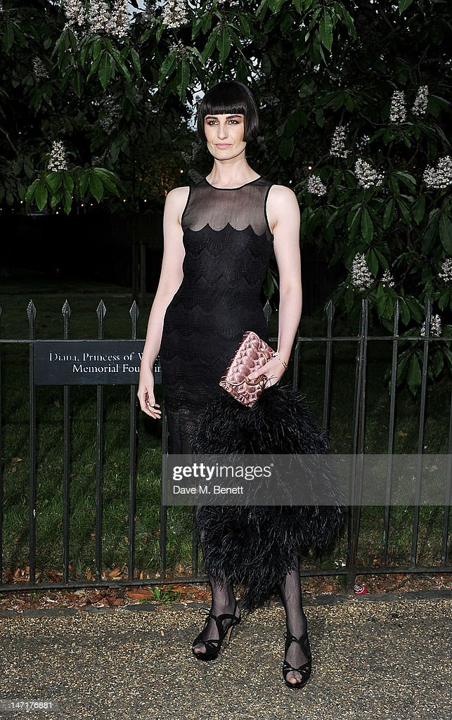 Erin O'Connor arrives at the Serpentine Gallery Summer Party sponsored by Leon Max at The Serpentine Gallery on June 26, 2012 in London, England.