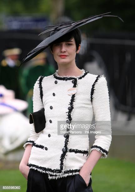 Erin O'Connor at Ascot Racecourse Berkshire during Ladies Day