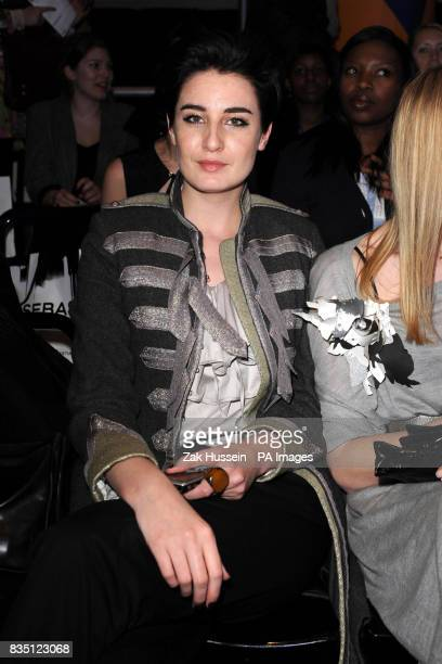 Erin O'Connor at the Henry Holland fashion show held at Quaglino's London