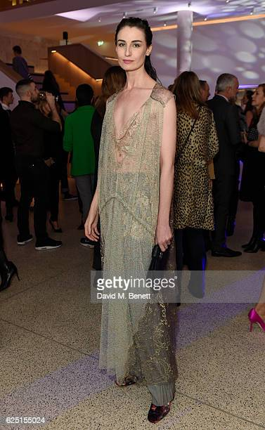 Erin O'Connor attend the launch of the new Design Museum cohosted by Alexandra Shulman Sir Terence Conran Deyan Sudjic on November 22 2016 in London...