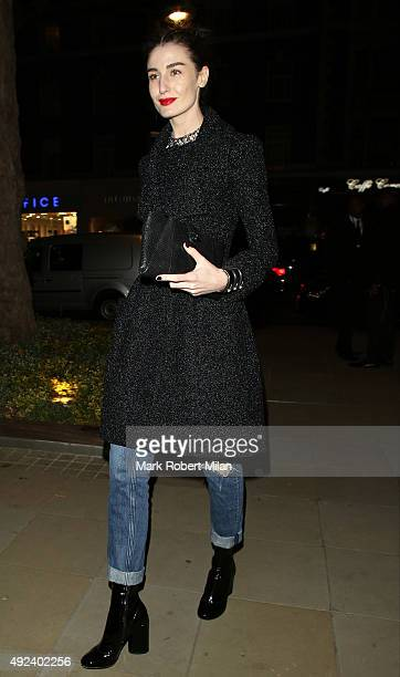 Erin O'Connor attending the Chanel Exhibition Party at the Saatchi Gallery on October 12 2015 in London England