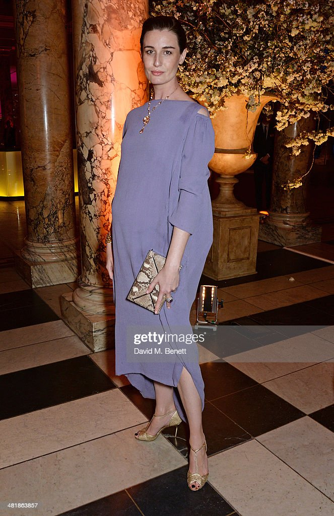 Erin O'Connor attends a private dinner celebrating the Victoria and Albert Museum's new exhibition 'The Glamour Of Italian Fashion 1945 - 2014' at Victoria and Albert Museum on April 1, 2014 in London, England.