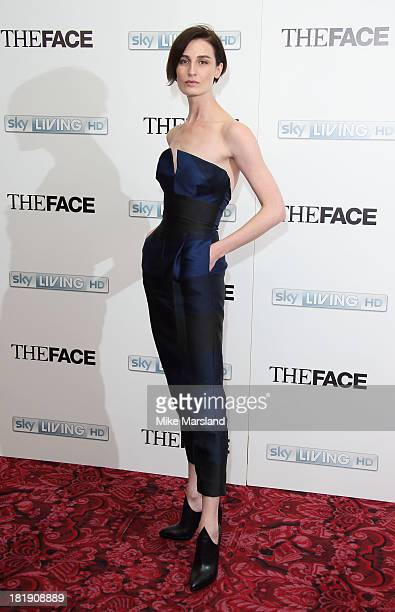 Erin O'Connor attends a special screening and QA sessions for the new series of 'The Face' at The Royal Opera House on September 26 2013 in London...
