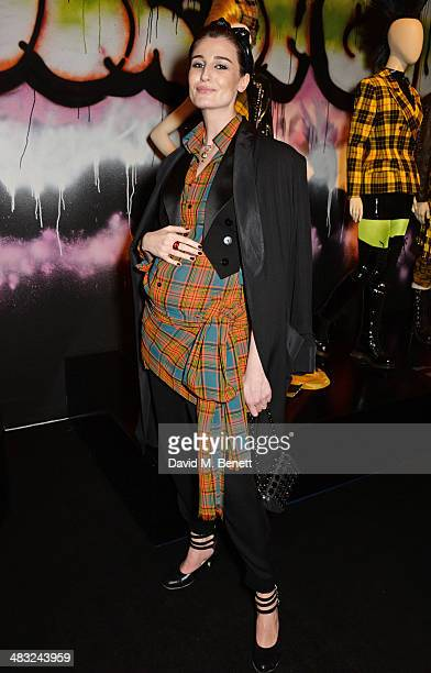 Erin O'Connor attends an exclusive reception for 'The Fashion World of Jean Paul Gaultier From the Sidewalk to the Catwalk' showing at the Barbican...