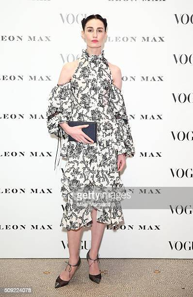 Erin O'Connor attends at Vogue 100 A Century Of Style atNational Portrait Gallery on February 9 2016 in London England