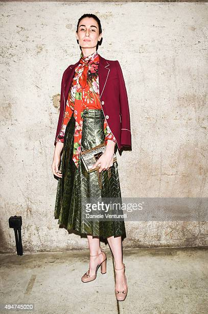 Erin O'Connor attends Muse The Travel Issue Dinner at Segheria Di Carlo E Camilla on October 28 2015 in Milan Italy