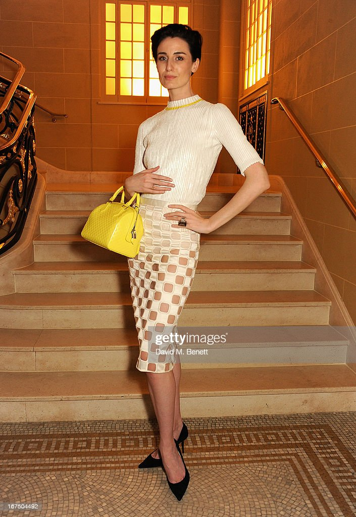 Erin O'Connor attends the Alexandra Shulman and Vogue Dinner in Honour of Michael Kors at the Cafe Royal on April 25, 2013 in London, England.