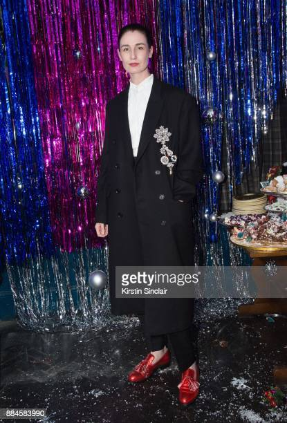 Erin O'Connor attends the Burberry x Cara Delevingne Christmas Party on December 2 2017 in London England