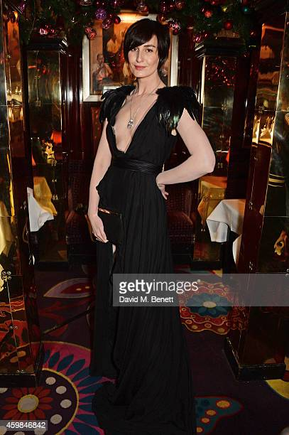 Erin O'Connor attends the Chopard Christmas Party at Annabel's on December 2 2014 in London England