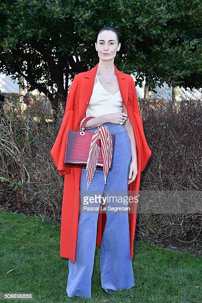 Erin O'Connor attends the Christian Dior Spring Summer 2016 show as part of Paris Fashion Week on January 25 2016 in Paris France