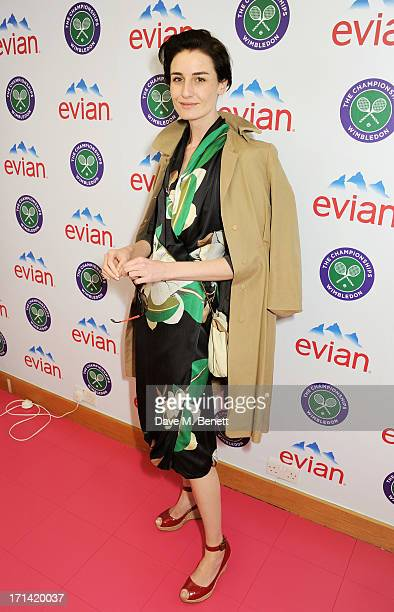 Erin O'Connor attends the evian 'Live Young' Suite at Wimbledon on June 24 2013 in London England
