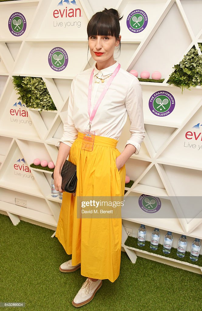 <a gi-track='captionPersonalityLinkClicked' href=/galleries/search?phrase=Erin+O%27Connor&family=editorial&specificpeople=204677 ng-click='$event.stopPropagation()'>Erin O'Connor</a> attends the evian Live Young suite during Wimbledon 2016 at the All England Tennis and Croquet Club on June 27, 2016 in London, England.
